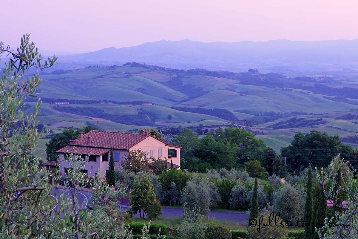 Tuscan landscape - view from our terrace at Borgo Montaione
