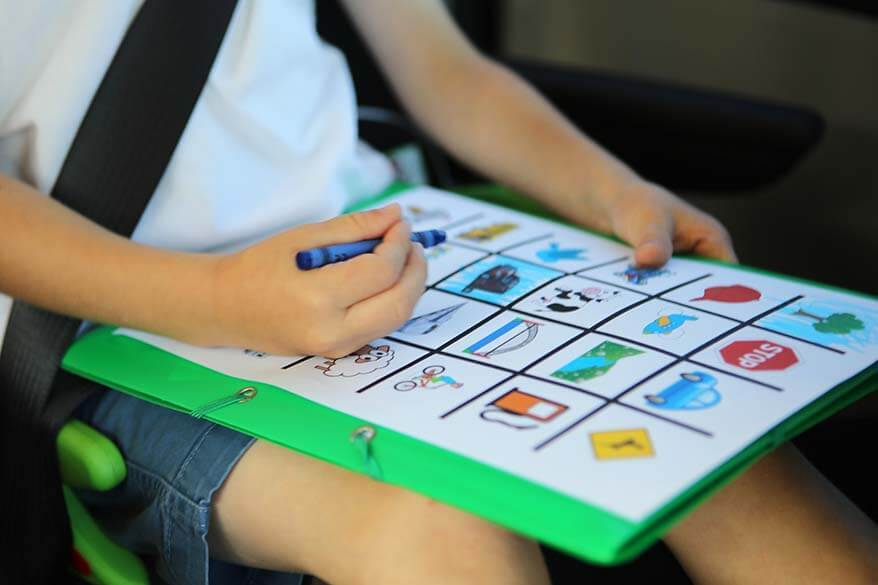 Road trip bingo is the best way to keep kids busy in a car