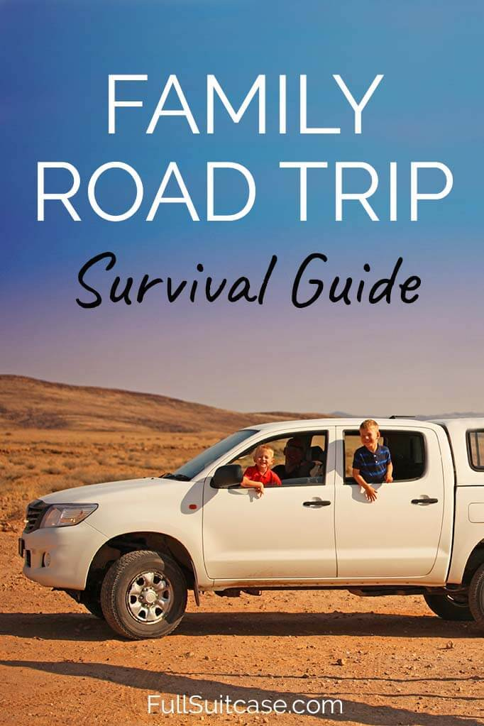 Traveling with toddlers and young children in a car - survival tips and hacks for your family road trip