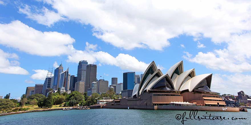 Sydney Opera House and Harbour as seen from the water