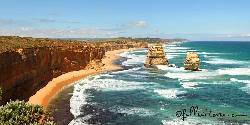 The Great Ocean Road coastline near the Twelve Apostles Australia