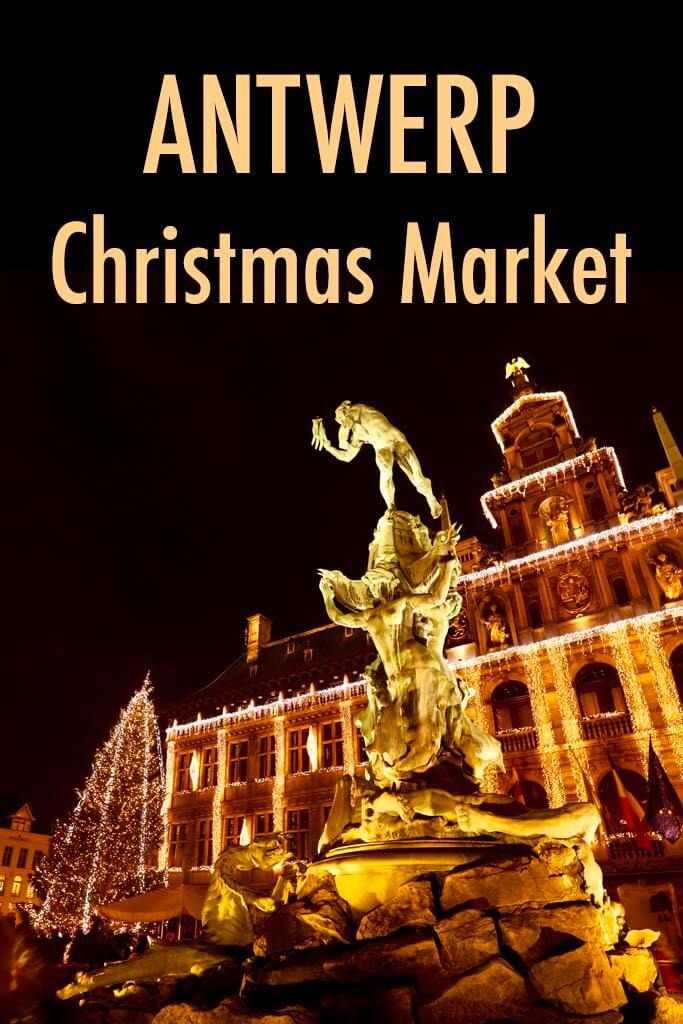 Antwerp Christmas market in Belgium