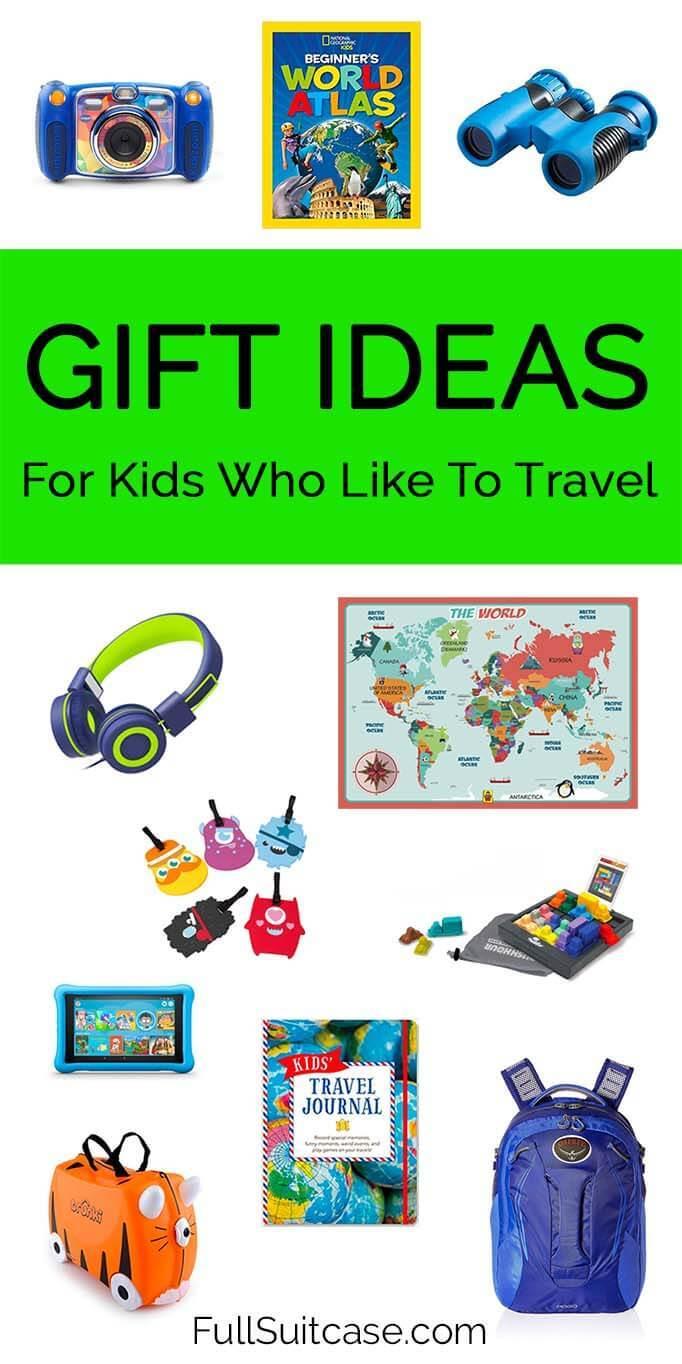 Kids gift ideas - travel presents for children