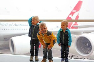 Flying with young kids easy and fun