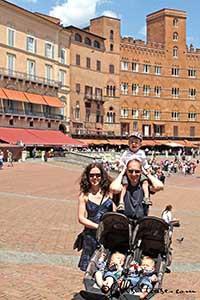 Family trip in Tuscany Italy