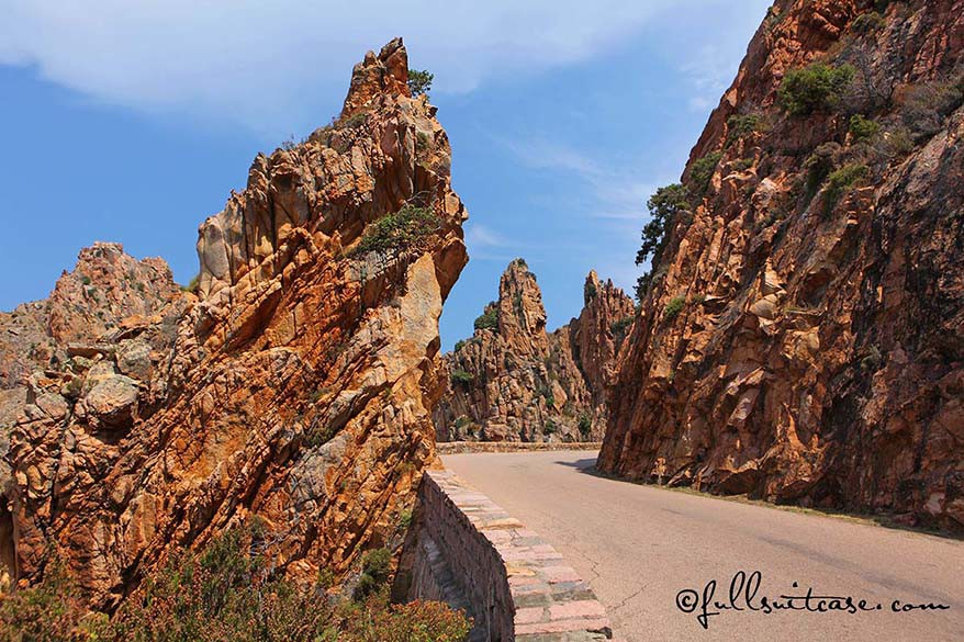 Corsica can be better visited on road trip because of the mountain roads