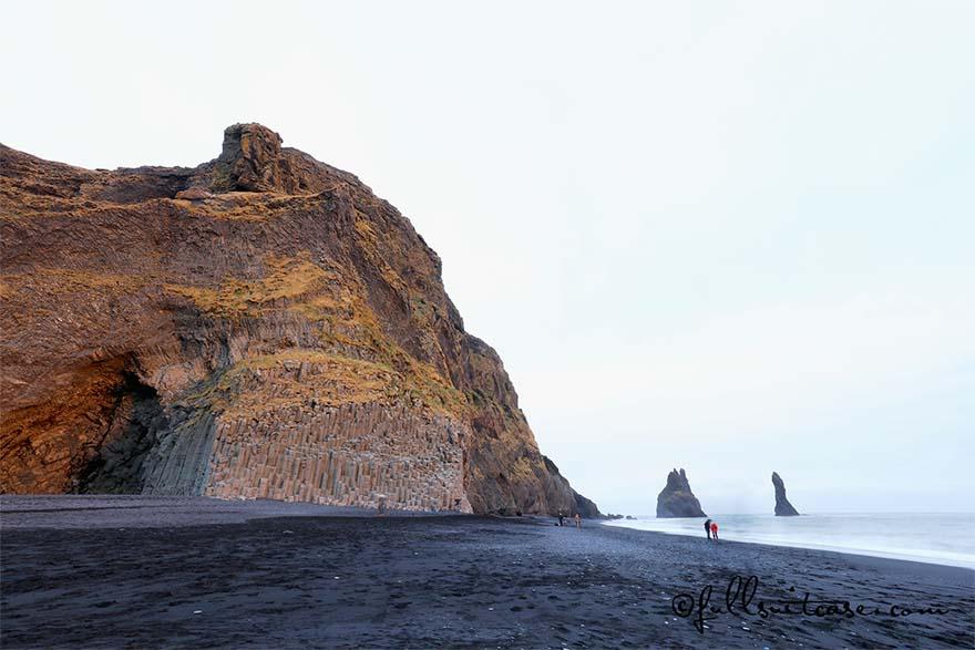 Reynisdrangar Basalt Cliffs and Beach in Southern Iceland