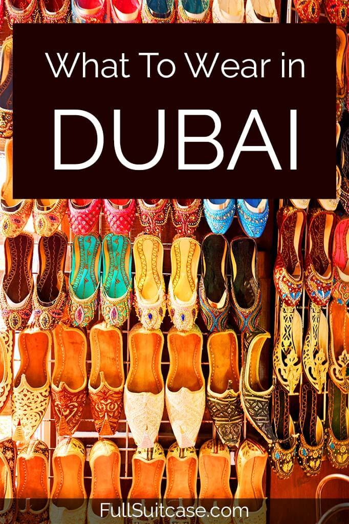 Dubai clothing advice for tourists - practical guide and tips
