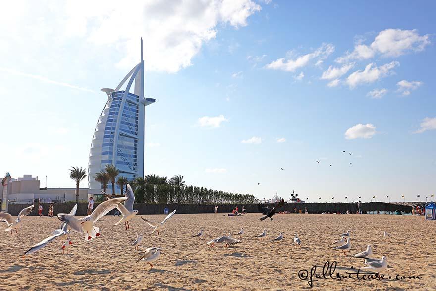 Burj Al Arab hotel as seen from Jumeirah Beach