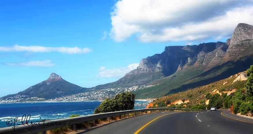 Twelve Apostles drive near Cape Town