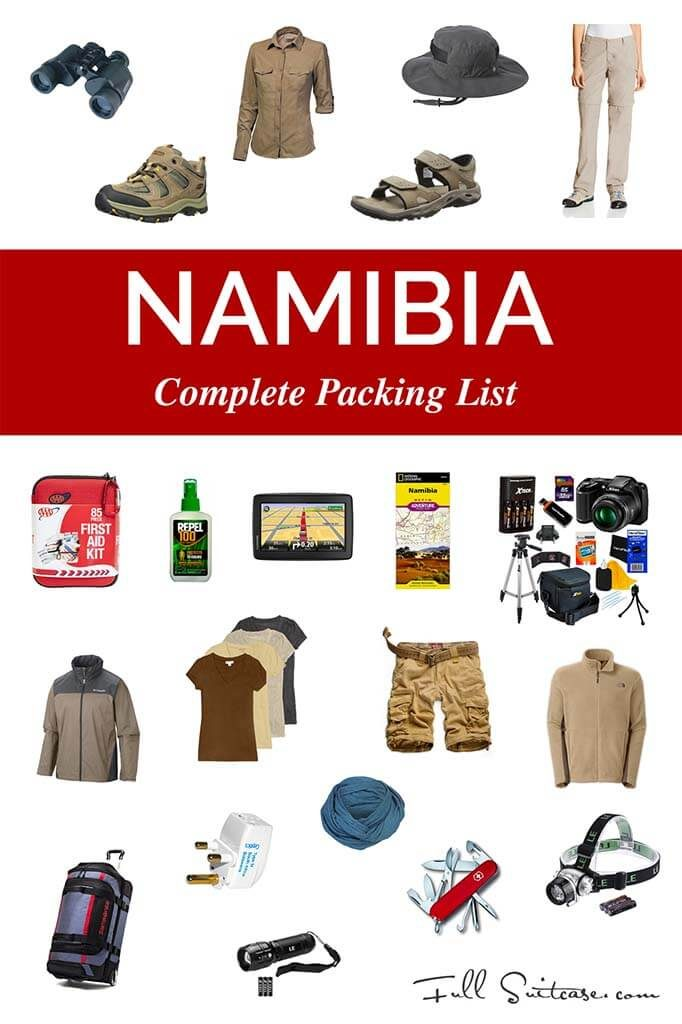 Complete packing list for Namibia trip