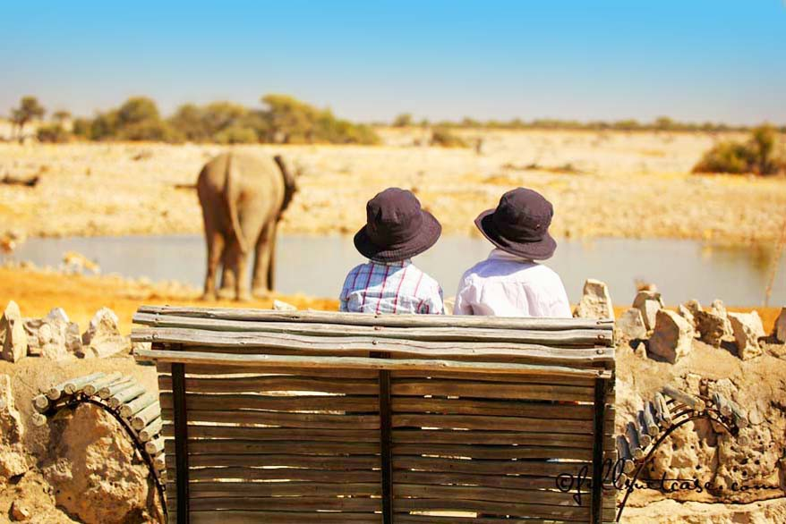 Best place to stay in Etosha Namibia is Okaukuejo Camp