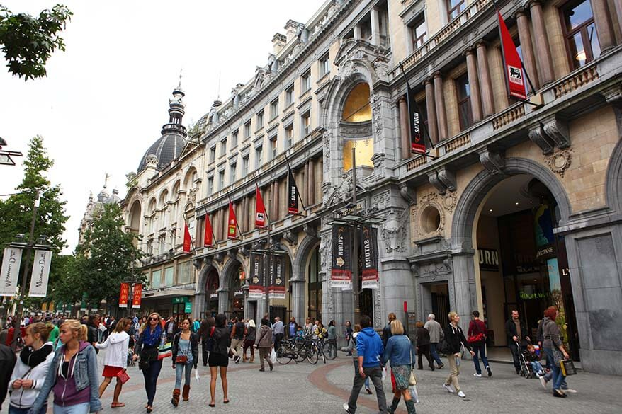 The Meir - the main shopping street of Antwerp