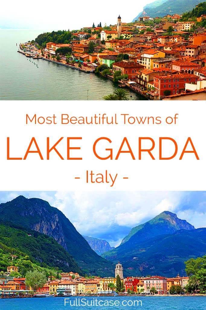 Most beautiful towns along Lake Garda in Italy