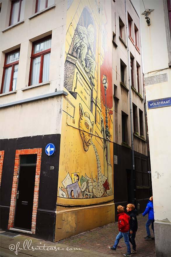 Comic murals of Antwerp