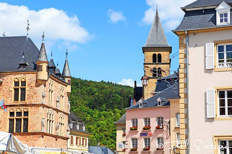Market square of Echternach in Luxembourg