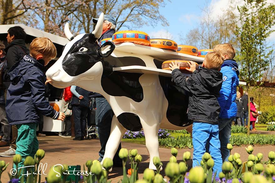 Keukenhof is about all things Dutch - not only the tulips, but also the cheese, etc.