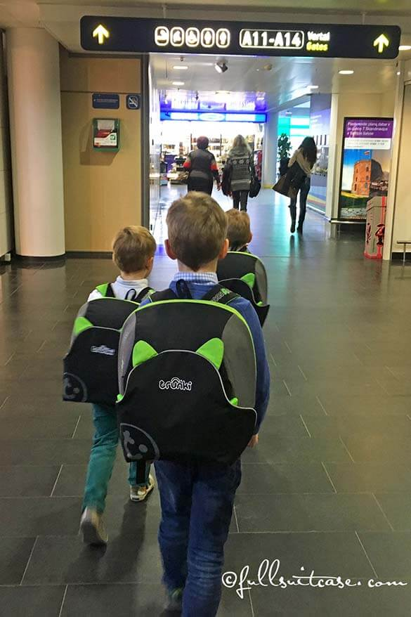 We always take Trunki boostapak for our kids when we travel