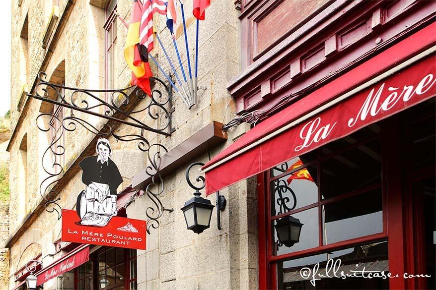 La Mere Poulard restaurant Mont Saint-Michel