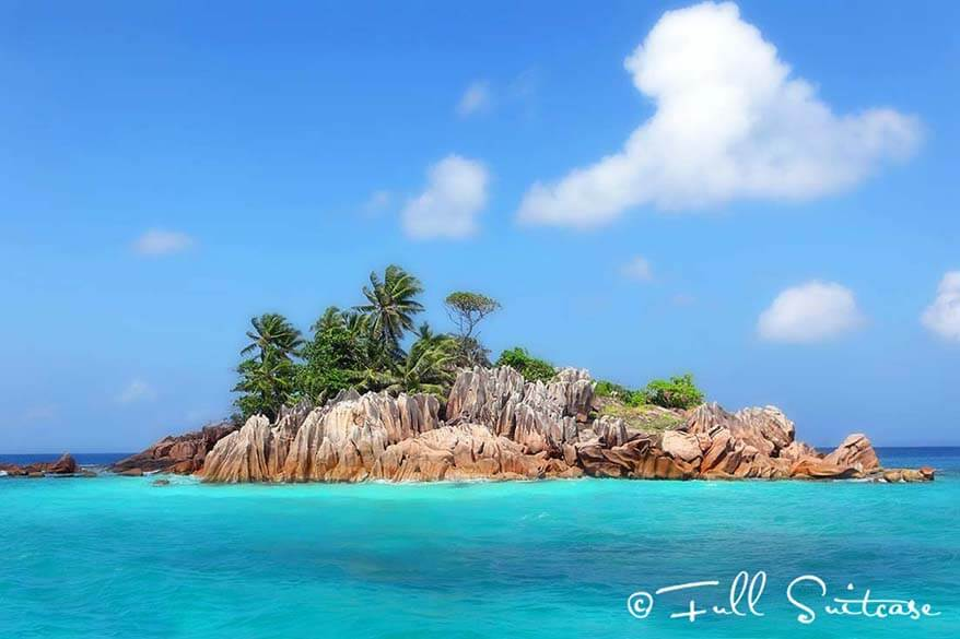 Picture-perfect tiny St Pierre island in the Seychelles