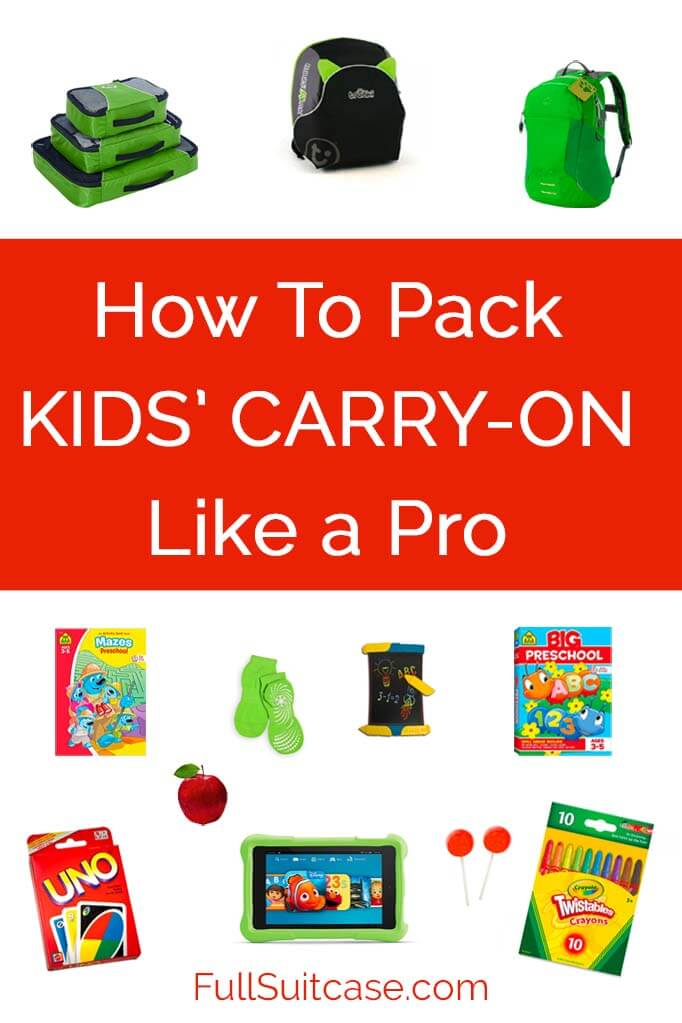 What to pack when flying with kids (packing list for ages 3 to 8)