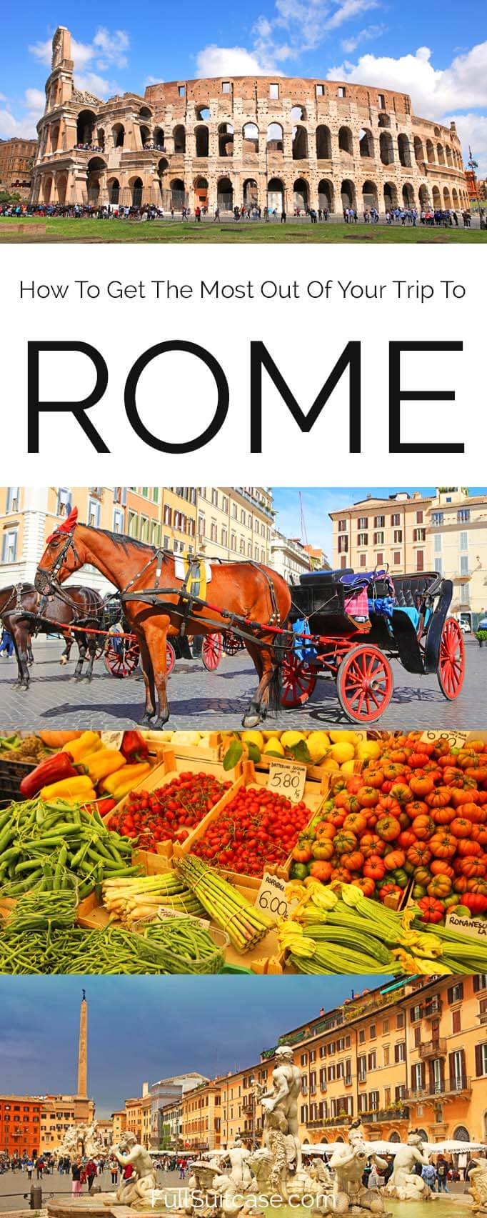 How to get the most out of your trip to Rome - 7 tips for a better experience. #Rome #Italy #travel #tips