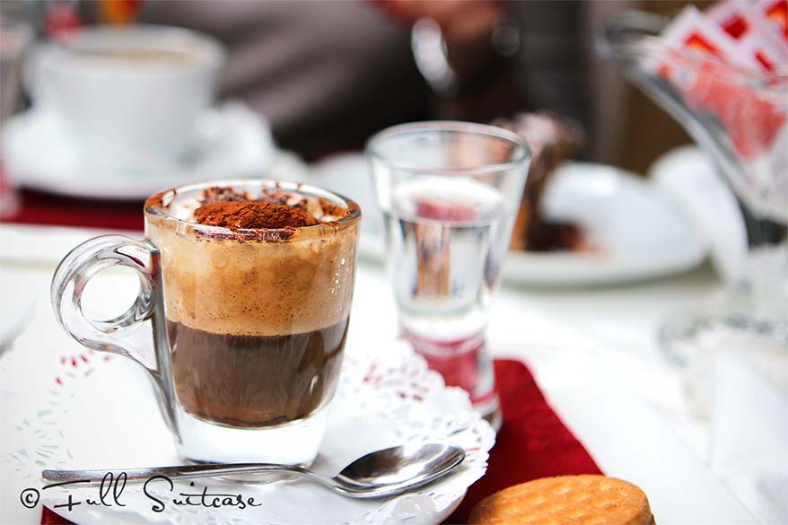 Italian coffee marocchino