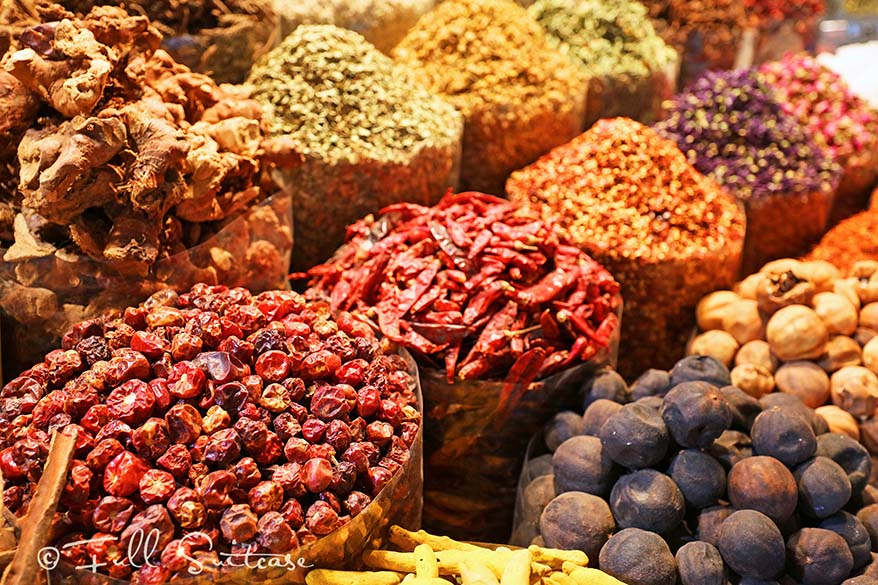 Oriental spices at the market