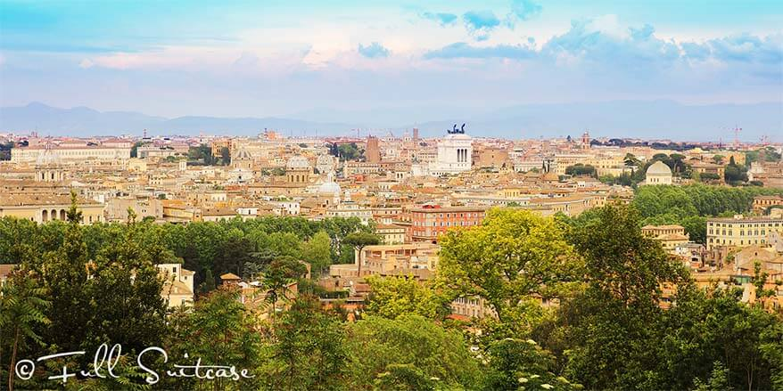 View of Rome from Gianicolo Hill