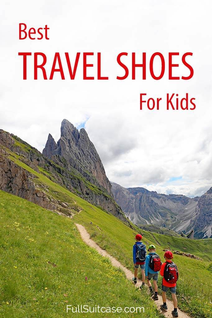 Best children's travel shoes (complete guide for any type of trip or vacation)