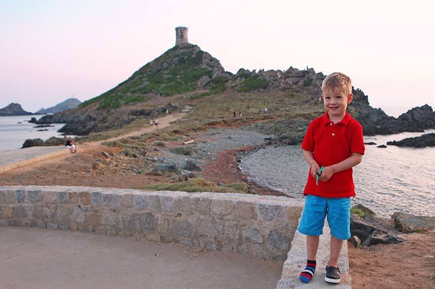 les Iles Sanguinaires in Corsica with kids