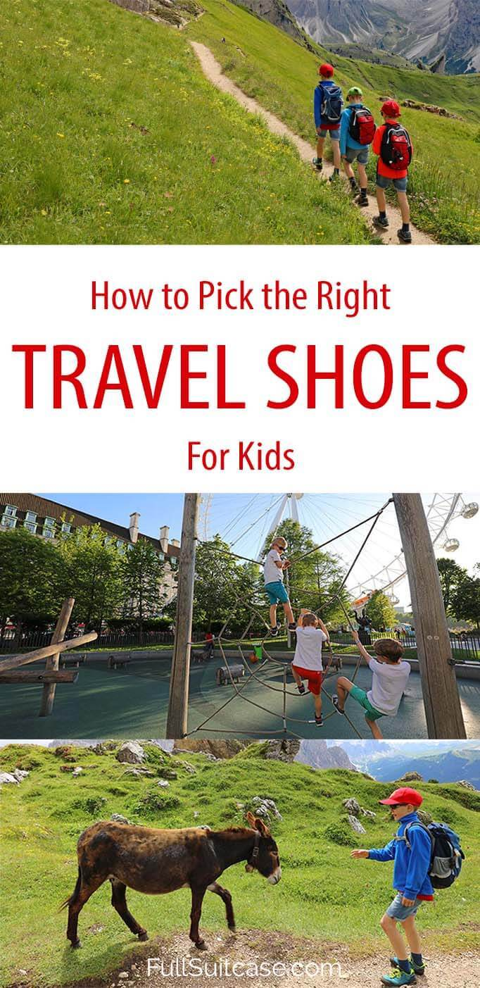 How to choose the best shoes for kids for any trip - hiking, theme parks, city trips, winter vacations, and more