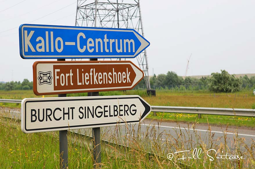 Sign to the Fortress of Liefkenshoek
