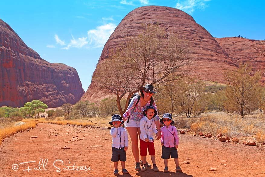 Walpa Gorge Walk at Kata Tjuta with young children
