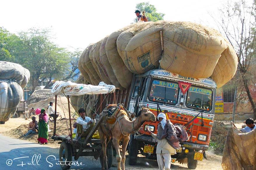 Chaos on the roads in India