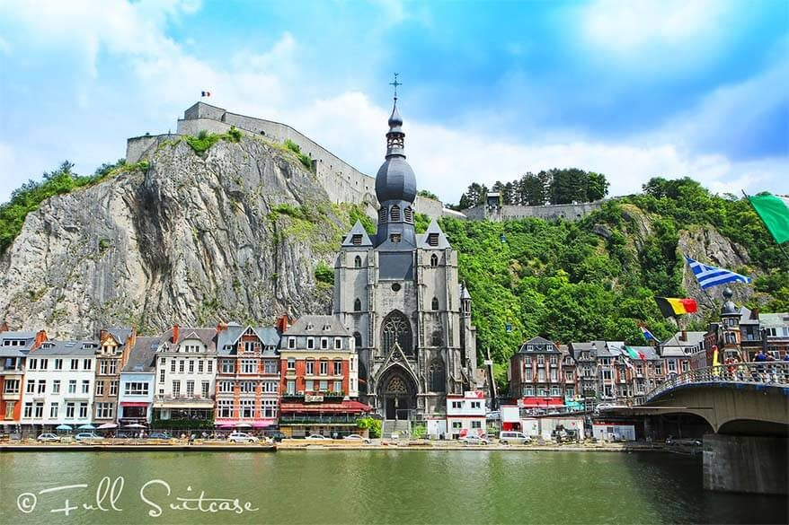 Dinant city in the Ardennes in Belgium