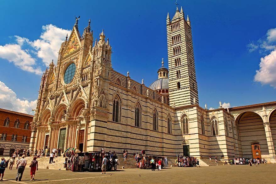 Siena is one of the most beautiful towns in Tuscany