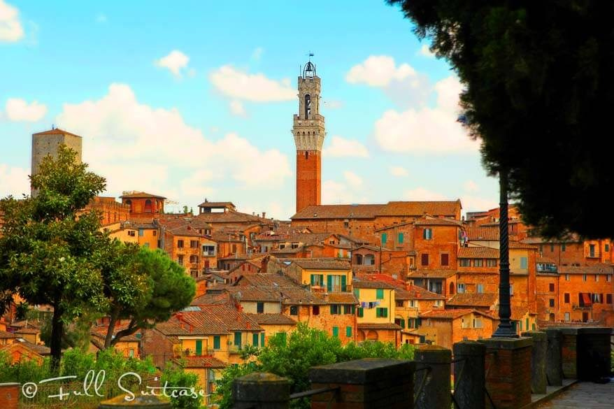 Siena is one of the most beautiful towns of Tuscany Italy