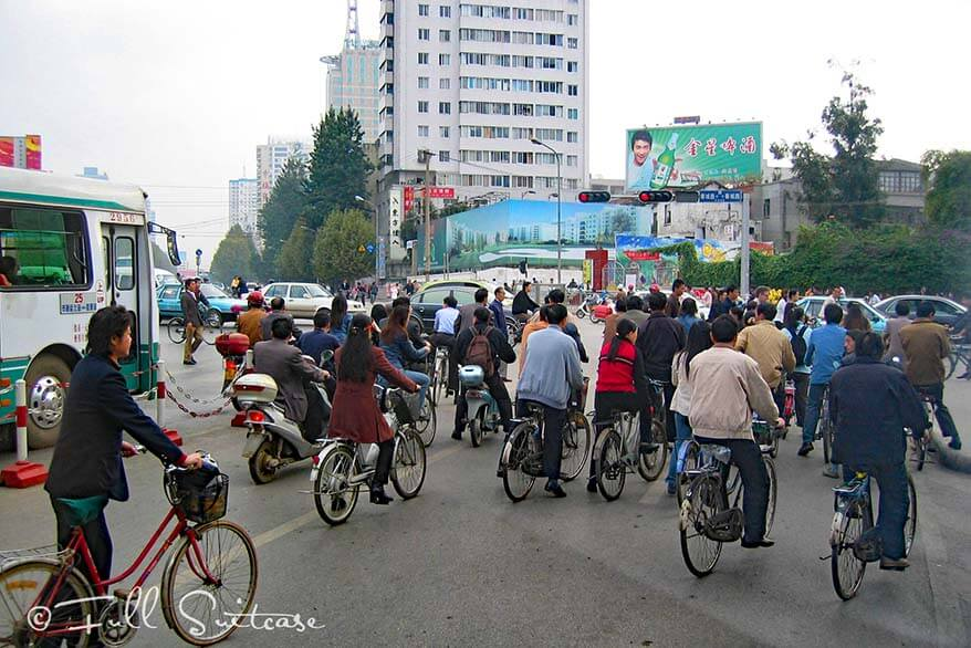 Traffic in an average city in China