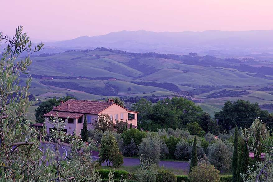 Tuscan countryside in Montaione area - good central location to stay for exploring Tuscany