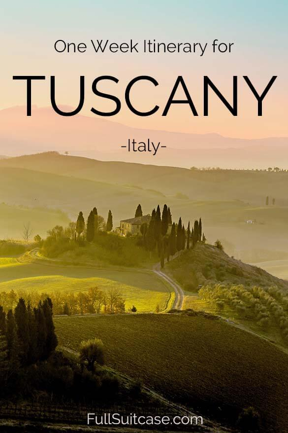 Tuscany itinerary - see the best of Tuscany in one week