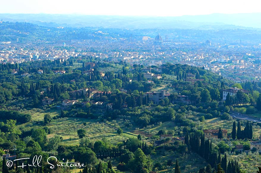 View over Florence from the road to Fiesole