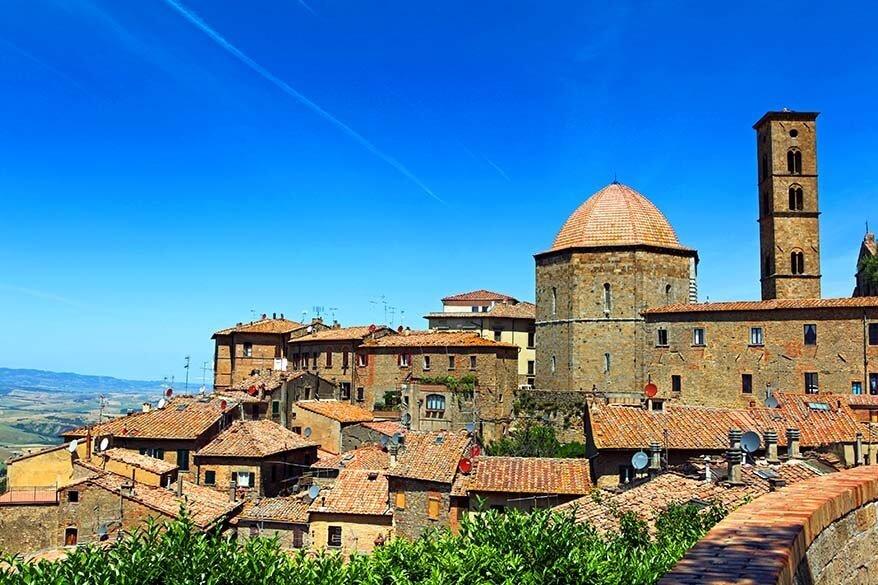 Volterra town in Tuscany Italy