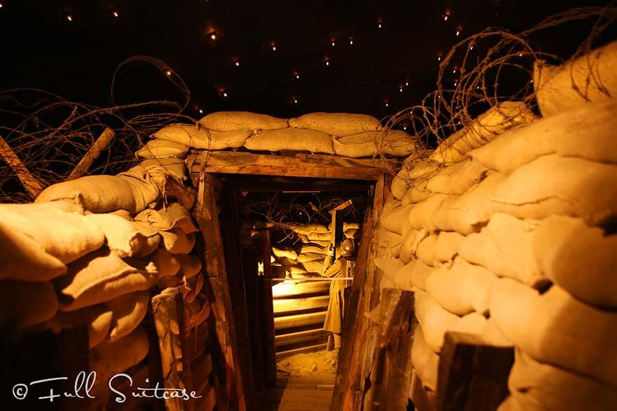 WWI trenches in the Citadel of Dinant Belgium