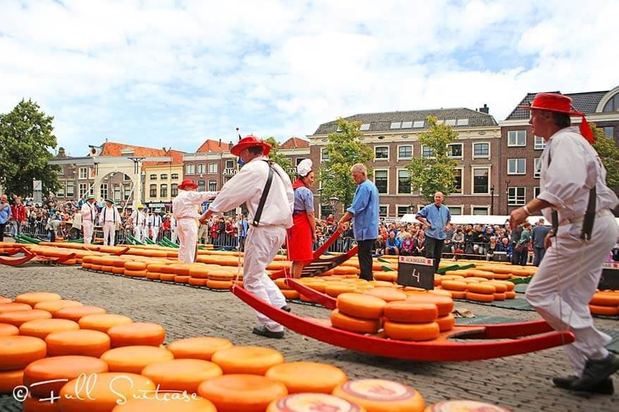 Alkmaar cheese market in the Netherlands