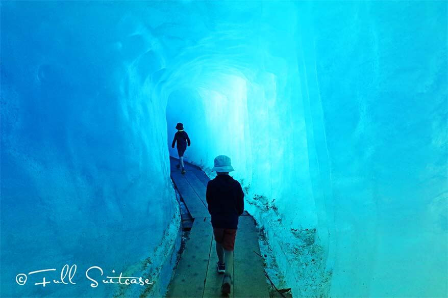 Ice cave at Furka Pass in Switzerland