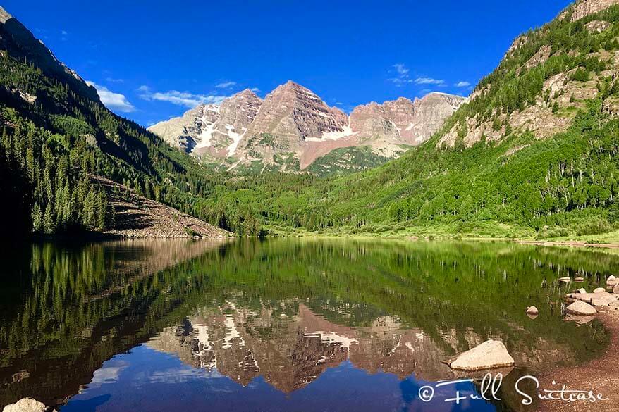 Maroon Bells reflections. Aspen Colorado