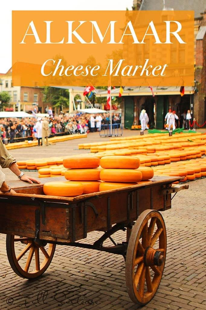 The famous Alkmaar cheese market in the Netherlands