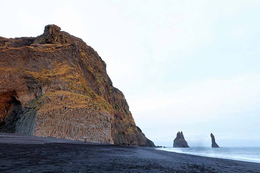 Basalt columns at Vik black sand beach (Reynisfjara) in Southern Iceland