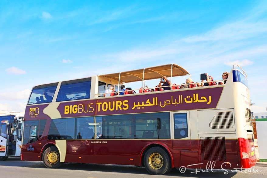 Big bus hop-on hop-off tour in Dubai